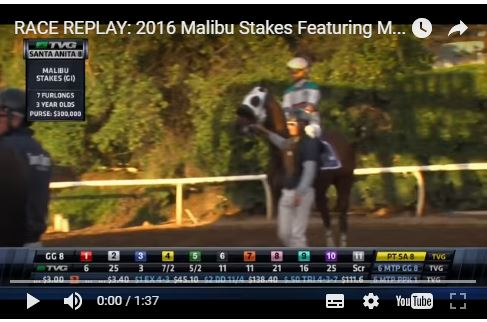 G1 Malibu Stakes'i TOCCET'in torunu MIND YOUR BISCUITS kazandı.